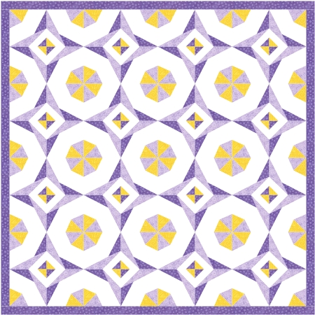 Purple New Star Quilt
